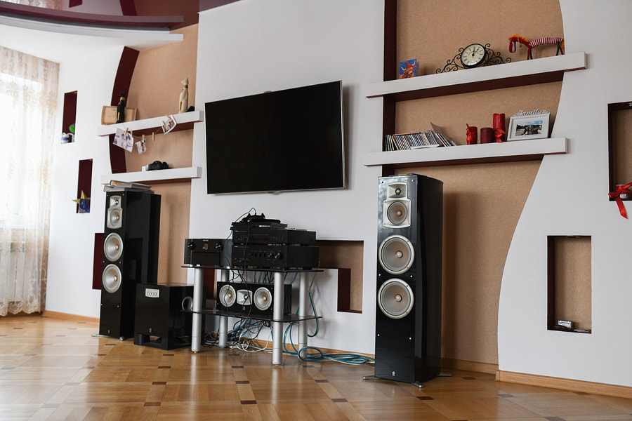 a home theatre system